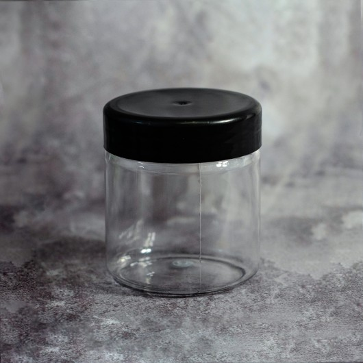 Баночка 250 мл (пластик с черной крышкой)