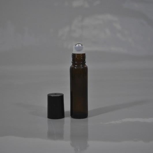 Флакон-роллер 10 мл (коричневый, стекло)