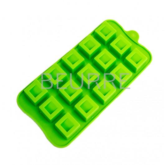 Форма для мыла Квадратики (мини) (15 ячеек, силиконовая)
