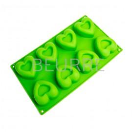 Форма для мыла Сердце в сердце (4 ячейки, силиконовая)