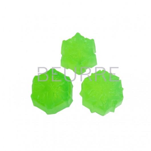 Форма для мыла Снежинки (3 ячейки, силиконовая)