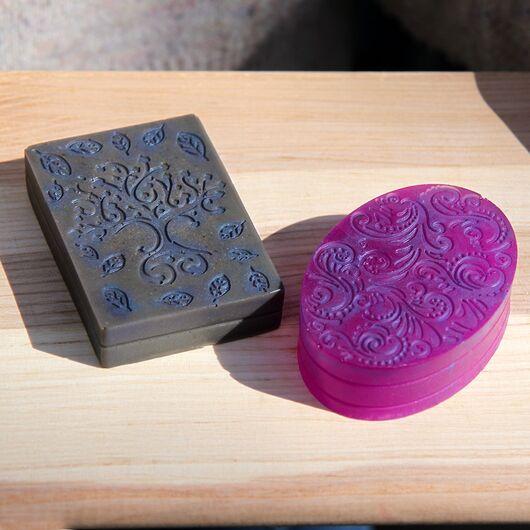 Форма для мыла с орнаментом (6 ячеек, силиконовая)