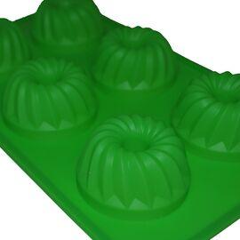 Форма для мыла Кексы (3 ячейки, силиконовая)