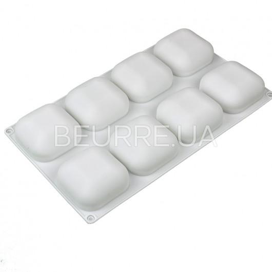 Форма для мыла 3D Квадраты (4 ячейки, силиконовая)