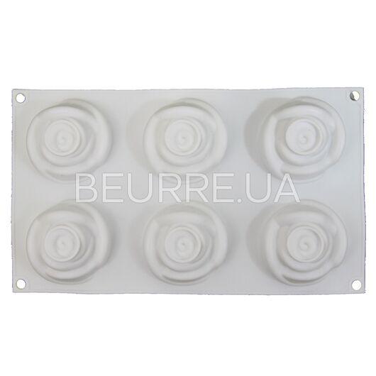 Форма для мыла 3D Роза (2 ячейки, силиконовая)