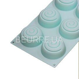 Форма для мыла 3D Спираль (2 ячейки. силиконовая)