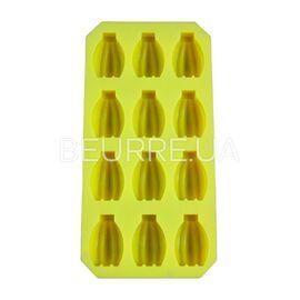 Форма для мыла Банан (мини) (12 ячеек, силиконовая)