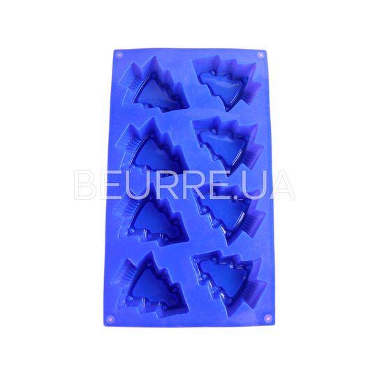 Форма для мыла Елочка новогодняя (4 ячейки, силиконовая)