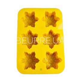 Форма для мыла Морозная снежинка (6 ячеек, силиконовая)
