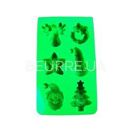 Форма для мыла Новогодняя (6 ячеек, силиконовая)