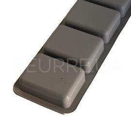 Форма для мыла Прямоугольники серые (4 ячейки, силиконовая)