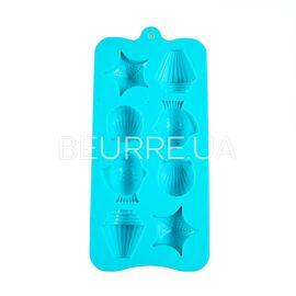 Форма для мыла Морской набор (мини) (8 ячеек, силиконовая)