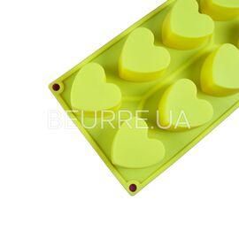 Форма для мыла Сердца (6 ячеек, силиконовая)