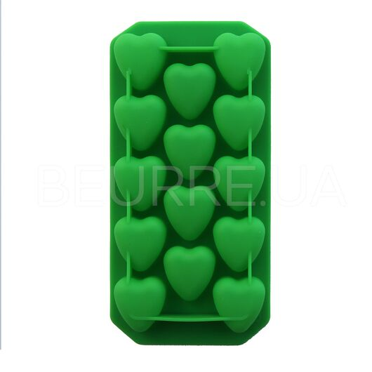 Форма для мыла Сердца (мини) (14 ячеек, силиконовая)