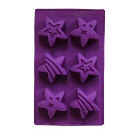 Форма для мыла Звездочки (3 ячейки, иликоновая)