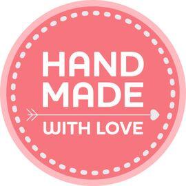 Наклейки №2 Hand made with love стикерпак 10 шт