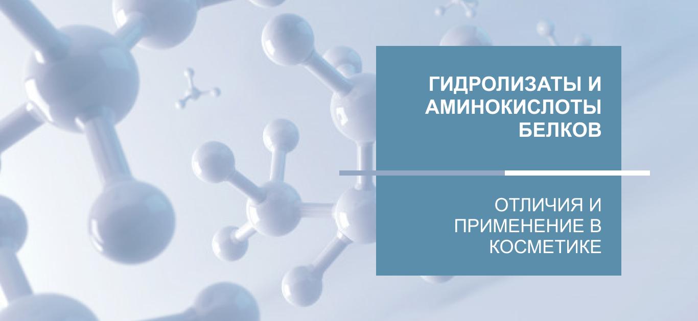 Гидролизаты и аминокислоты белков: отличия и применение в косметике