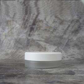Баночка 100 мл. (матовая, пластик с белой крышкой)