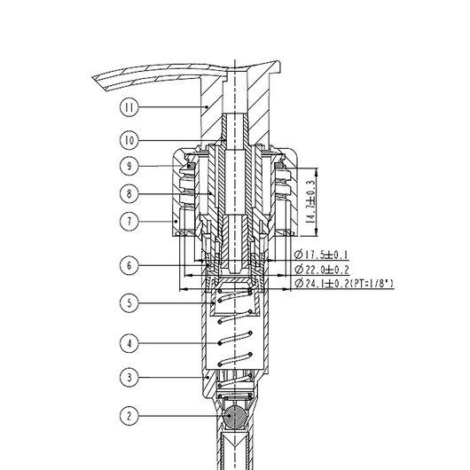 Дозатор стандарта 24/410 на 250 мл. (черный)