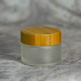 Баночка (матовая, стекло) с деревянной крышкой 30 мл