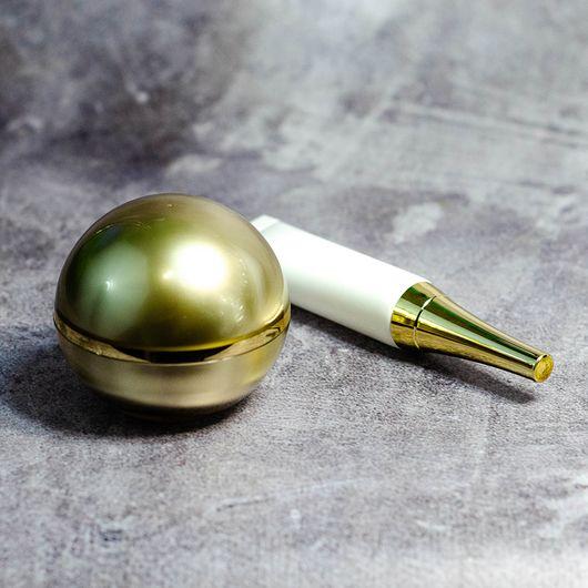 Тубофлакон (белый) 10 мл (с золотой крышкой)