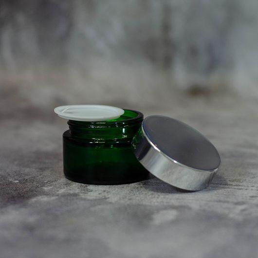 Баночка Флора 15 мл (зеленая, стекло)