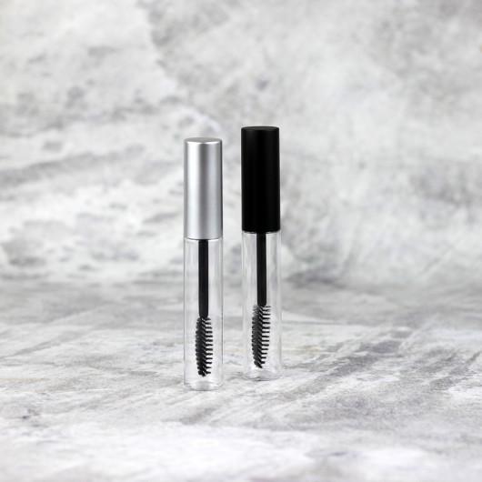 Туба для туши прозрачная (серебряный колпачок)