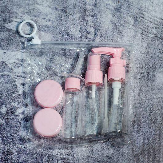 Дорожный набор емкостей (мини, розовый)
