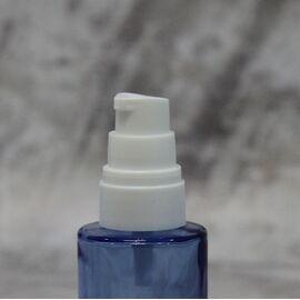 Флакон 30 мл. с дозатором (голубой: стекло)