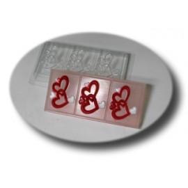 Форма для мыла под нарезку  Сердечки (пластик)