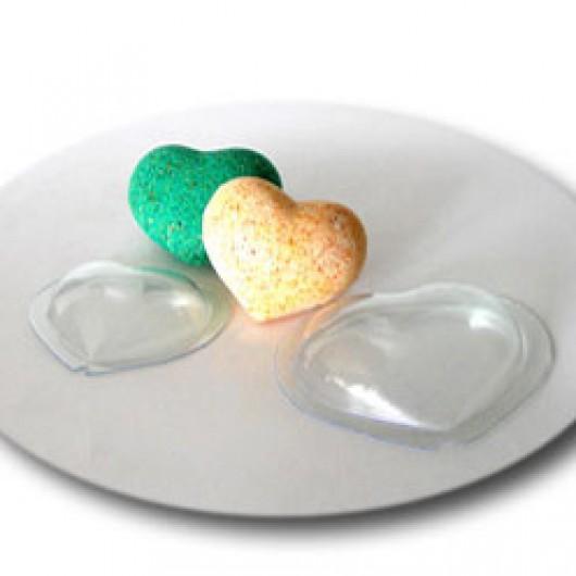 Форма для бомбочек Сердце (пластик)