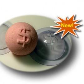 Форма для бомбочек Сфера-доллар (пластик)