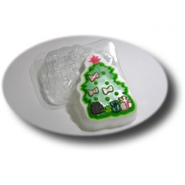 Форма для мыла Елочка с подарками (пластик)