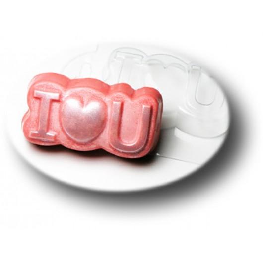 Форма для мыла Love you (пластик)