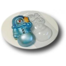 Форма для мыла Снеговик (пластик)