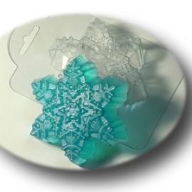 Форма для мыла Морозная снежинка (пластик)